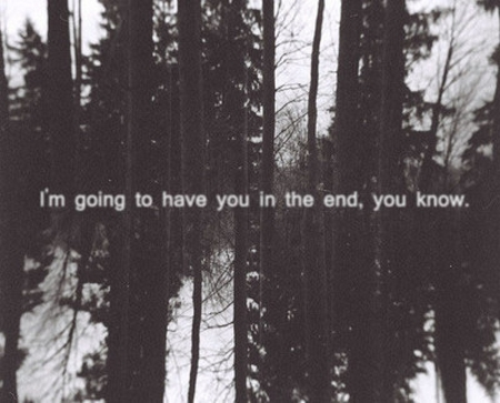 Yo te dendre al final, tu lo sabes