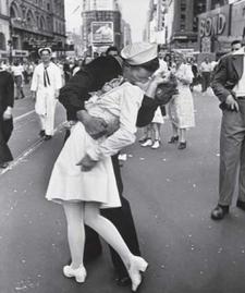 Beso en Timesquare